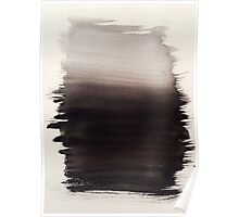 Watercolor Black Fuzzy Mind Poster