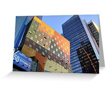 The Colors and Shapes of New York City Greeting Card