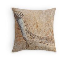 Sand Monitor (Varanus flavirufus)..  Throw Pillow