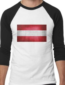 Austria Flag Men's Baseball ¾ T-Shirt