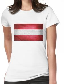 Austria Flag Womens Fitted T-Shirt