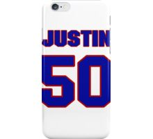National football player Justin Ena jersey 50 iPhone Case/Skin