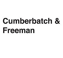 Cumberbatch & Freeman by sarahalice