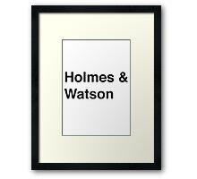 Holmes & Watson Framed Print
