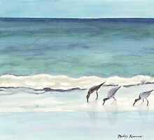Beach, Birds and Stillness by Koolbeans