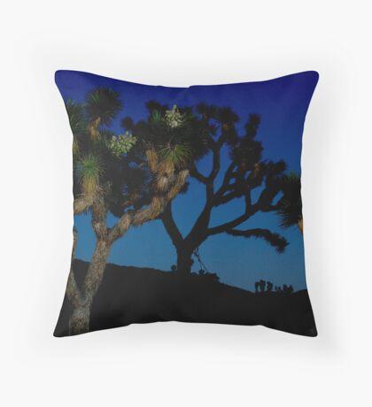 Darkness Falls at Joshua Tree Throw Pillow