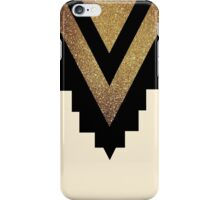 Black chevron with gold glitter iPhone Case/Skin