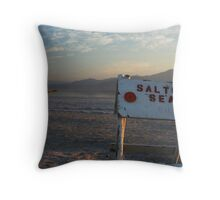 Welcome to the Salton Sea Throw Pillow