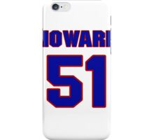 National football player Howard Dinkins jersey 51 iPhone Case/Skin