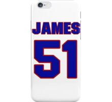 National football player James Francis jersey 51 iPhone Case/Skin