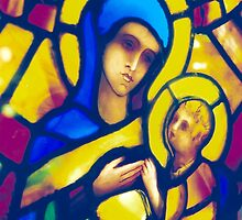 Madonna and Child - Stained Glass by pithypenny