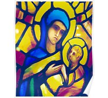Madonna and Child - Stained Glass Poster