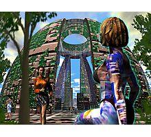 Alien Hive City - 3D art Photographic Print