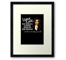 Stana - Leading Cause of Girl Crushes Framed Print
