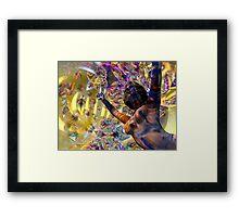 Journey Through the Vortex - 3D art Framed Print
