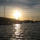 Sunset on the harbor by aegiis