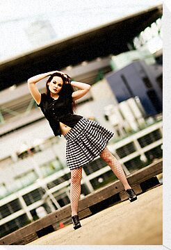 Anne Duffy Fashion Shoot Checkered Skirt by Tony Lin