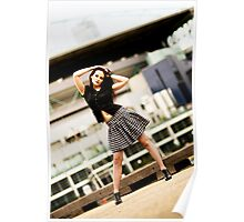 Anne Duffy Fashion Shoot Checkered Skirt Poster