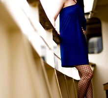Anne Duffy Fashion Shoot Blue Dress by Tony Lin