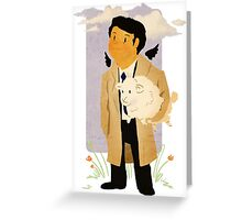 Castiel - Rounding Up the Stray Greeting Card