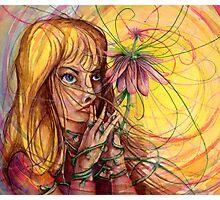 Magic Flower Girl Photographic Print