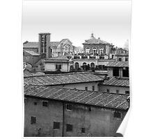 Roman Rooftops Poster