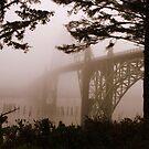 Yaquina Bay Bridge in the fog , Newport, Oregon *1,689 views* by aussiedi