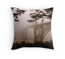 Yaquina Bay Bridge in the fog , Newport, Oregon *1,689 views* Throw Pillow