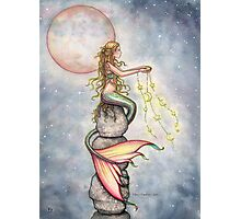 """Star Filled Sky"" Mermaid Art by Molly Harrison Photographic Print"