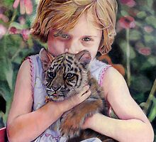 The Girl and Her Tiger by Joseph Johnson