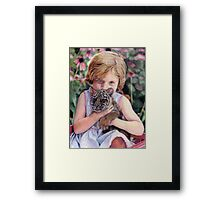 The Girl and Her Tiger Framed Print