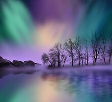 """dawn of the north"" - The Northern Lights  by Moonlake"