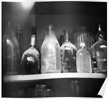 dusty bottles Poster