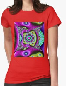 Colourful Circles and patterns Womens Fitted T-Shirt