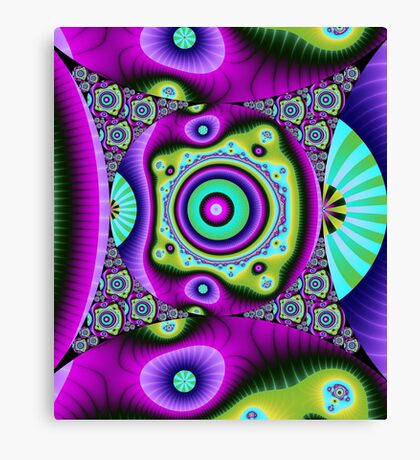 Colourful Circles and patterns Canvas Print