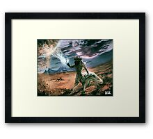 When planets collide Framed Print