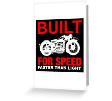 FASTER THAN LIGHT-RED 2 Greeting Card