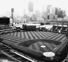 PNC Park - Black and White by ArchetypePhoto