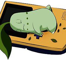 Sleeping Chikorita  by selenekenway