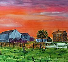 Red Skies At Night, Farmers Delight by Jack G Brauer