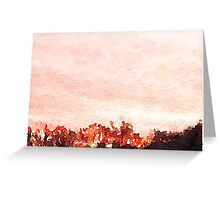 Pink Skyline Greeting Card