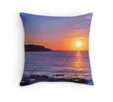 Sunrise over Bondi Beach Throw Pillow