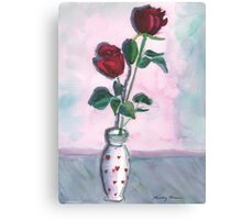 I Love You Roses Canvas Print