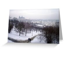 Wintry Prague Greeting Card
