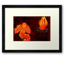 Born of Fire Framed Print