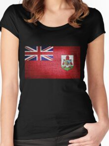 Bermuda Flag Women's Fitted Scoop T-Shirt
