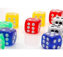dices of luck Photographic Print