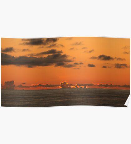 North Sea Sunset Poster