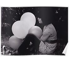 Girl With Balloons Poster
