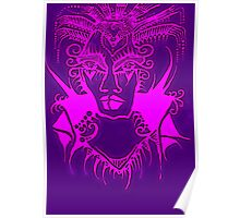 Tattoo - Purple and pink Poster